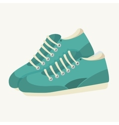 Sneaker shoes run sport vector
