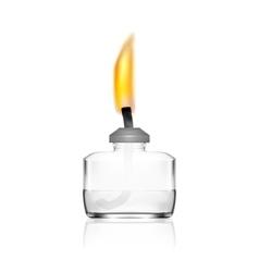 Spirit Lamp Burner For Chemical Lab vector image vector image