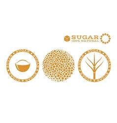 Sugar stamp vector