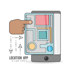technology smartphone with touch screen and gps vector image