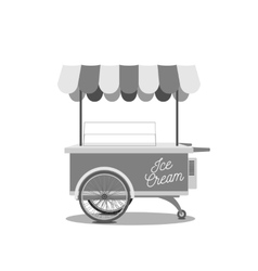 Vintage ice-cream cart vector