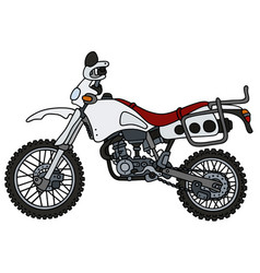 White off-road motorcycle vector