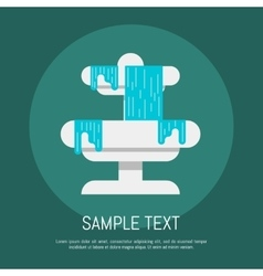 Fountain icon vector