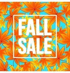 Autumn seasonal sale banner design Fal leaf vector image