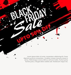 Abstract grunge black friday sale design vector