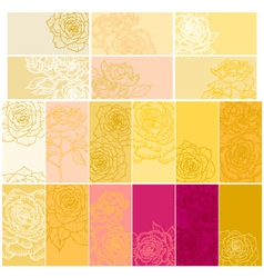 Collection of floral backgrounds with roses vector image