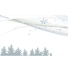 New Year background with lines trees and vector image