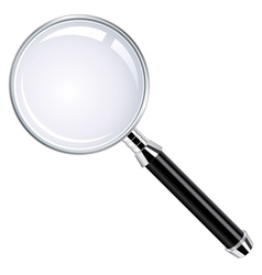 Realistic magnifying glass vector