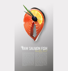 Realistic seafood product template vector