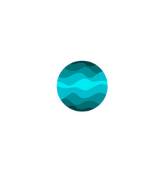 isolated abstract blue color round shape logo on vector image
