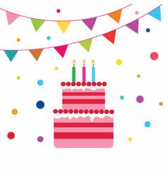 Birrhday cake celebration vector
