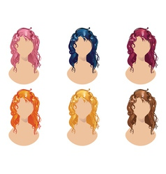 Wavy Hair Style vector image
