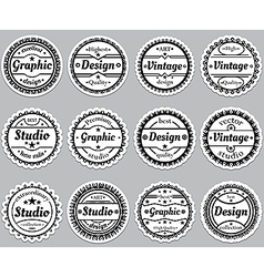 Set old fashioned icons Premium design graphic vector image