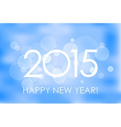 Happy New Year 2015 winter background vector image