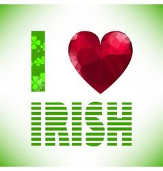 irish vector image