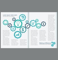 Gear page layout vector