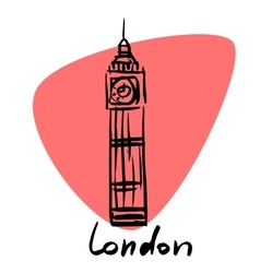 London the capital of england vector