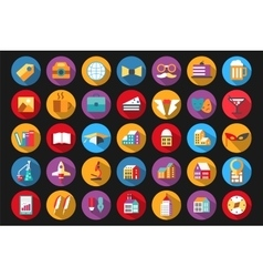 Icons flat style vector image