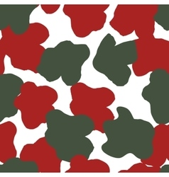 Color flower seamless pattern in military design vector