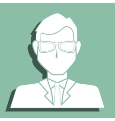 Businessman icon profile vector