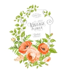 Vintage card background vector image