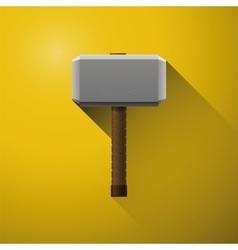 Hammer of thor the vikings comics hammer of god vector