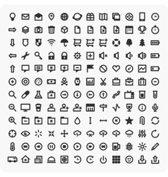 Large set of universal icons vector