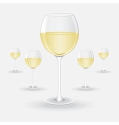glasses of white wine vector image