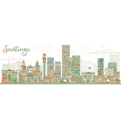 Abstract santiago chile skyline vector