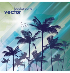 Exotic palm trees background vector