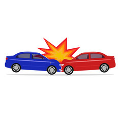 a cartoon car accident vector image vector image
