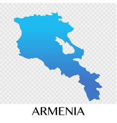 Armenia map in asia continent design vector