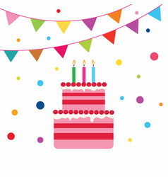 Birrhday cake celebration vector