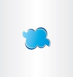 blue cloud icon logo vector image