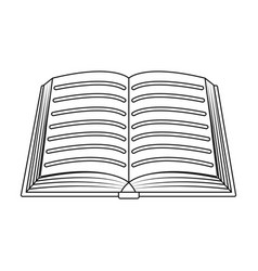 book icon in outline style isolated on white vector image