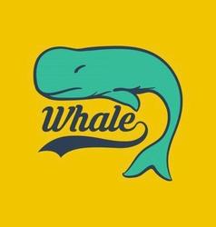 Bright whale logo vector