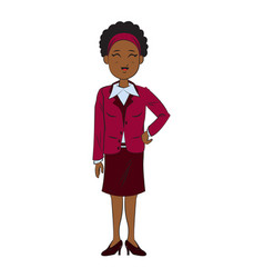 cartoon character businesswoman standing with vector image