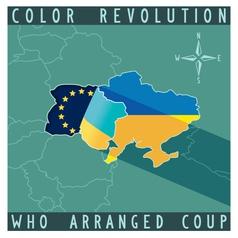 Color revolution in ukraine vector