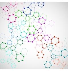 Colorful molecule DNA vector image vector image