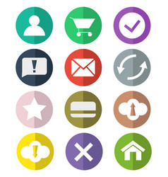 flat web icons two tones vector image vector image