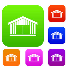 garage set collection vector image