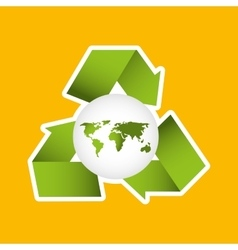 globe earth environment eco icon design vector image