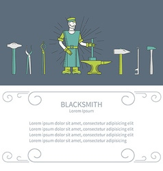 Horizontal banner smith vector