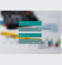 Infographic template with rectangle horizontally vector