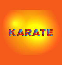 Karate theme word art vector