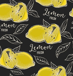 Lemon seamless pattern background vector image vector image