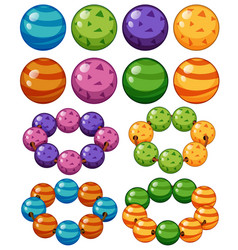 marbles in different colors vector image vector image
