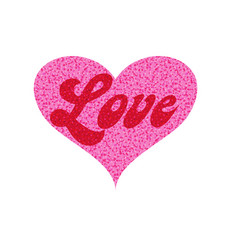 Mod love in pink glitter heart vector