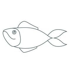Monochrome contour of salmon fish vector