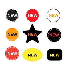 New stickers icon on white background new labels vector